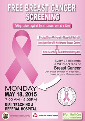 Kisii level Five Cancer Screening 2015